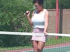 Dirty MILF Angelina Eats The Tennis Coach Ass