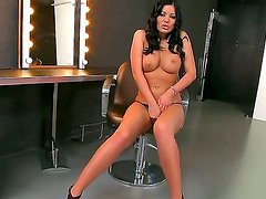 Angelica Heart with juicy tits cant stop touching her honeypot