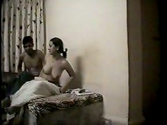 Buxom amateur Indian filth stretches legs wide and gets poked missionary