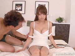 Amazingly hot Japanese girl gets her tits licked and pussy drilled