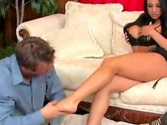 Superb Audrey Bitoni pleases with her feet