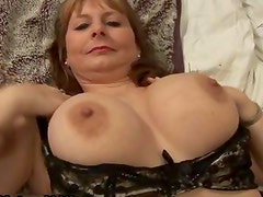 Horny mature wife in sexy lingerie loves