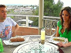 Angelica Saige gets her soaking wet muff ploughed