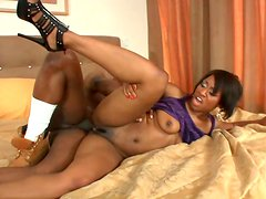 Tough anal fuck is what perverted ebony chick Imani Rose thirsts for