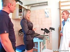 Doctor visit turns into a naughty femdom fantasy