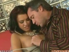 Eva Angelina Getting Her Tummy Cum Covered after Hot Sex