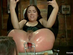 Amber Rayne and Kristina Rose ass fucked each other with strapon