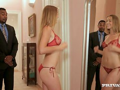 Alexis Crystal sucks a BBC before taking it in her ivory pussy