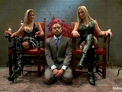 Femdom and Torture with Pegging by Dominant Blondes Dia Zerva and Felony