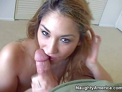 Sexy and arousing blonde amateur Roxy Jezel enjoys in sucking