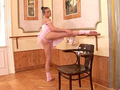 Naughty ballerina loves to masturbate