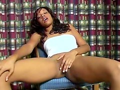 Naty the dominican pearl in sheer panty