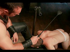 Gay hunks having hot bondage sex