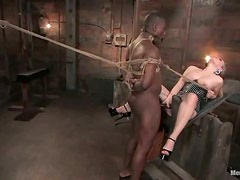 Aiden Starr toys Black guy in his ass and rides his dick