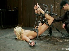 Domination and Toying Action by Machine for Busty Blonde Lylith Lavey