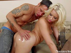 Anikka Albrite is a around assed gorgeous blonde who is