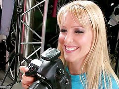 Blonde Sophie Moone is hungry for lesbian