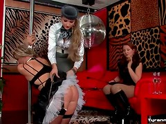 Sissy French maid humiliated by two guys