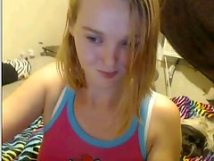 a very cute legal age teenager exposed in webcam!