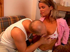 Appealing babe Nena is seduced in a country house