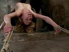 Special Rope Torture Testing Lily Labeau's Flexibility