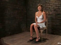 Naughty Vai gets tied up and wired in femdom video