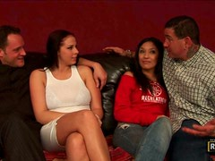 Two Couples Get Together To Share A Place To Fuck!
