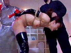 Tied babe was humiliated in Japanese clip