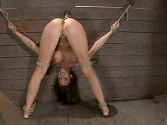 Chanel Preston Gets Extreme Bondage with Nipple Weights Torturing Her