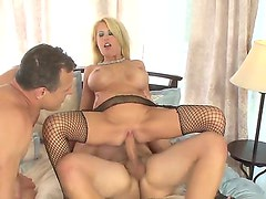 Father and son screw hard a sexy horney blondes