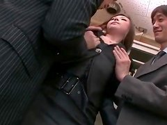 Office foreplay with sexy Japanese girl