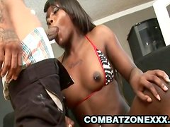Gabriel Hunter - Black Teen Gets Pussy Stretched By A BBC