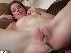 DevilsFilm Brunette Fucked and Creampied