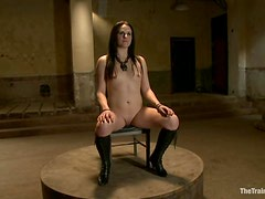Sophie Monroe gets hanged up above the floor and spanked