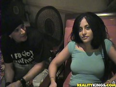 Naughty Latina with Natural Tits and Thong Fucking on the First Date