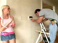 Madison Scott gives herself to the electrician