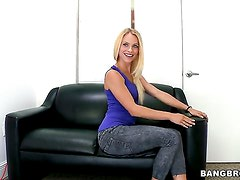 Cameron Canada with tiny breasts and shaved snatch