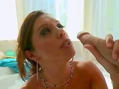 Cheating brunette milf Francesca Le with big juicy hooters and heavy make up gets fucked hard