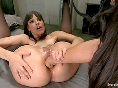 Anal Strapon Sex and Ass Fisting with Lesbians Lyla Storm and Dana DeArmond