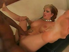 Interracial with the hot blonde mom Brittany Blaze