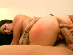 Chubby milf gets cumshot over her knockers
