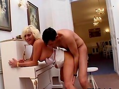 Horny mature lady loves riding big dick