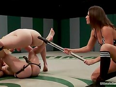 Awesome dolls in underwear Fight in A Ring in Ultimate Surrender