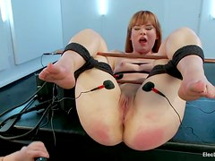 Aiden Starr destroys Claire Robbins's twat with a dildo