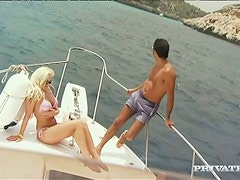 Wild anal sex with a precious babe on the yacht