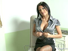 Alison sucks and rubs a big cock and enjoys it a lot