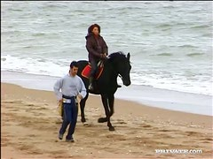 Horse Ride on the Beach Ends with Hardcore Fucking Outdoors