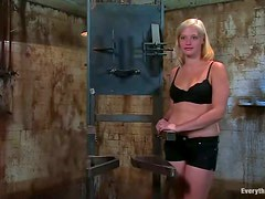 Bonded Lacey Jane gets her pussy toyed and pumped with water