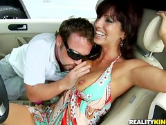 Pussy licker is fucking a divine milf in her place