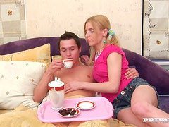 Pinky babe Elisabeth is taking some care of her BF